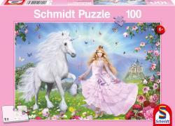Prinses en de Eenhoorn, 100 stukjes - Puzzel