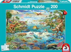 Ontdek de Dinosaurussen, 200 stukjes - Puzzel