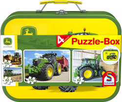 John Deere, Puzzle-Box, 2x60, 2x100 stukjes - Puzzel