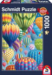 Bonte Ballonen in de lucht, 1000 stukjes - Puzzel
