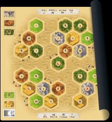 Catan playmat Desert - Bordspel