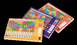 Scoreblokken Keer op Keer drie stuks Level 2, 3 en 4 - Dobbelspel