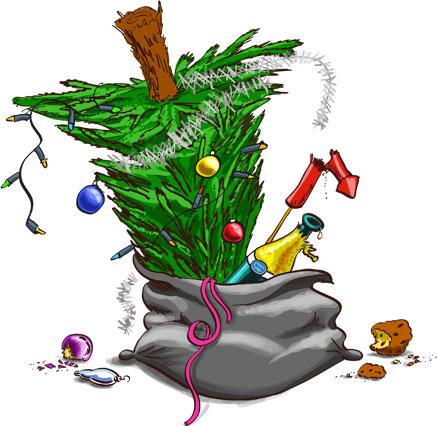 Weg met die kerstboom!
